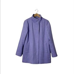 J. Crew Wool Blend Heather Purple City Coat 12